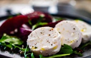 IQF Unripened Goat Cheese Slices